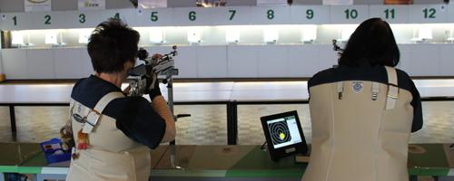 Luftgewehr-Luftpistolenstand-elektronisch